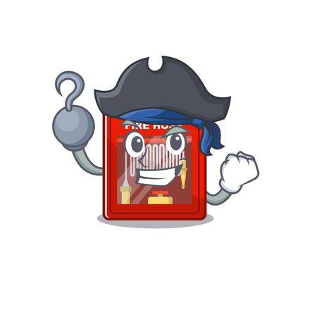 Pirate fire hose cabinet on the mascot Çizim