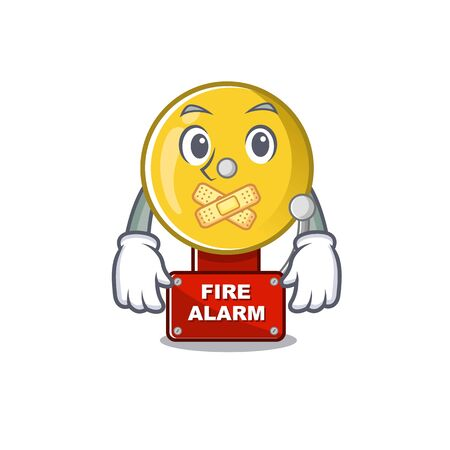 Silent fire alarm in the a cartoon Ilustrace