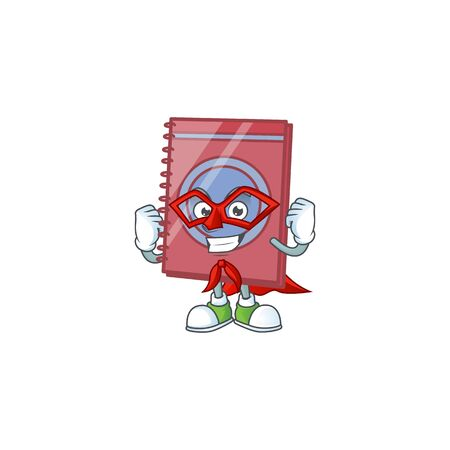 Super hero red closed book for education object.