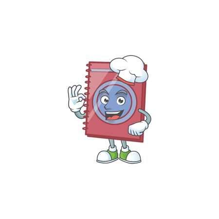 Chef red closed book for education object.  イラスト・ベクター素材