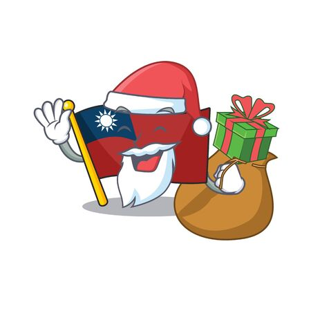 Santa with gift flags taiwan are stored cartoon drawers