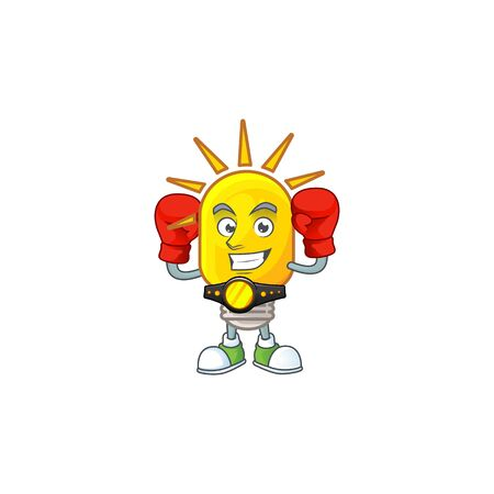 Boxing lamp for light in the home. vector illustration