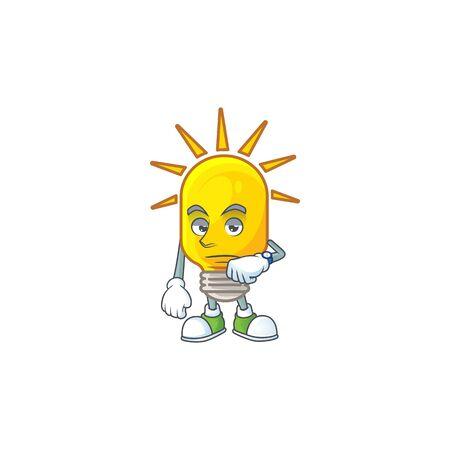 Waiting lamp icon cartoon on white background. vector illustration 向量圖像