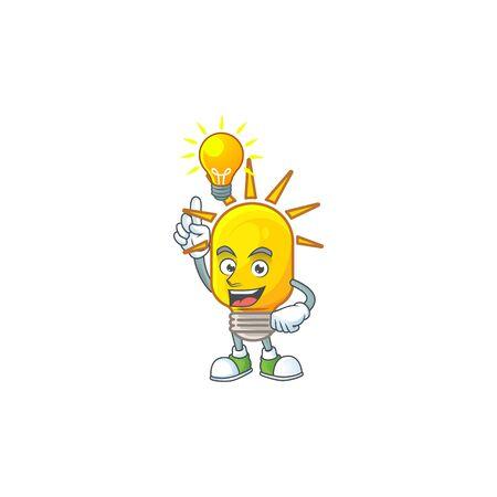 Have an idea lamp icon cartoon on white background. vector illustration Çizim