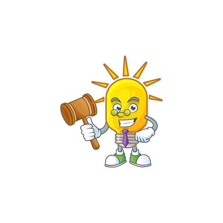 Judge lamp icon cartoon on white background. vector illustration