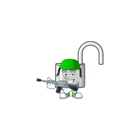 Elf unlock key with cartoon character design. vector illustration