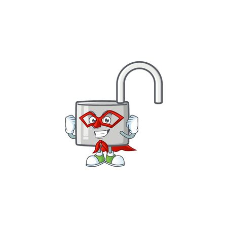 Super hero unlock key icon in the character vector illustration