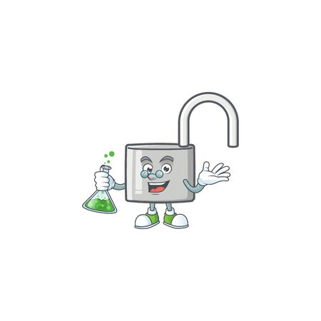 Professor unlock key icon in the character vector illustration
