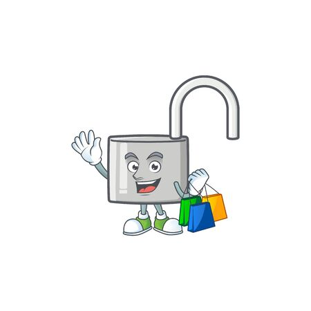 Shopping unlock key icon in the character vector illustration Illustration