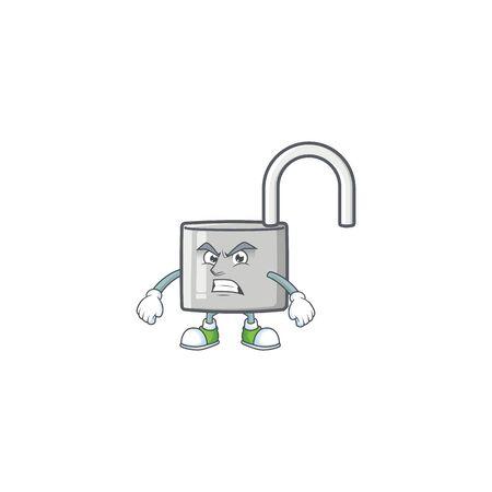 Scream unlock key icon in the character vector illustration Ilustração