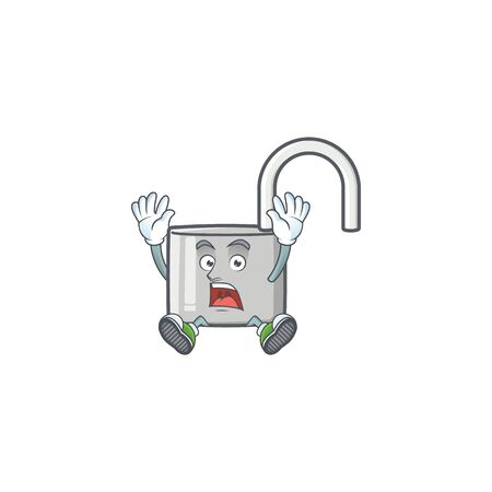 Successful unlock key icon in the character vector illustration 向量圖像