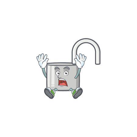 Successful unlock key icon in the character vector illustration Ilustração