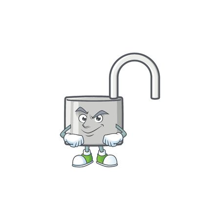 Smirking unlock key icon in the character vector illustration