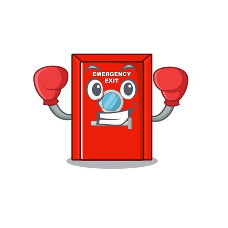 Boxing emergency exit door with the character