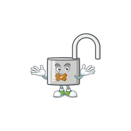 Silent silver unlock key on white background. vector illustration 向量圖像
