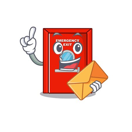 With envelope emergency exit door isolated the cartoon  イラスト・ベクター素材