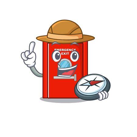 Explorer emergency exit door in the mascot