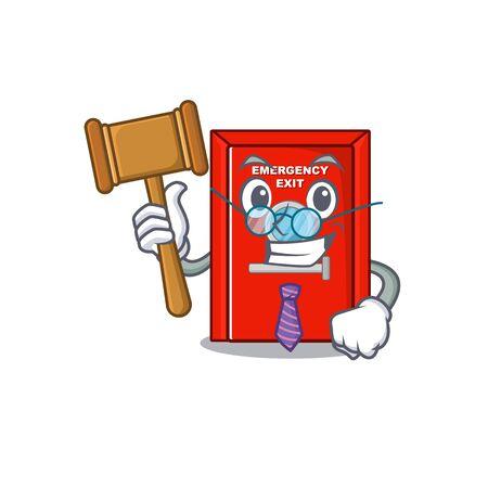 Judge emergency exit door with cartoon shape