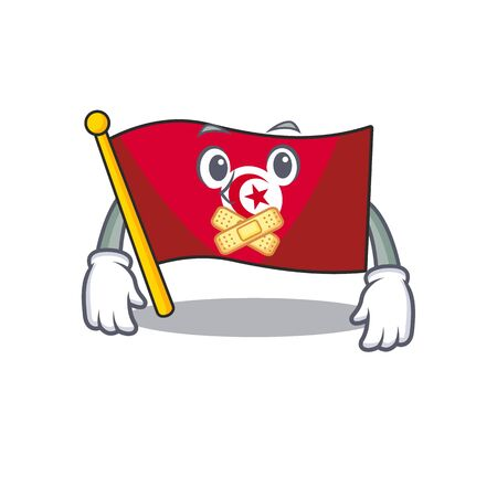 Silent flag tunisia character isolated with cartoon  イラスト・ベクター素材