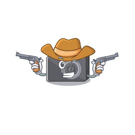 Cowboy digital camera in the cartoon shape