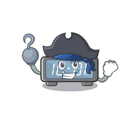 Pirate digital clock isolated in the mascot