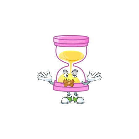 Silent sandglass isolated with on white background. vector illustration