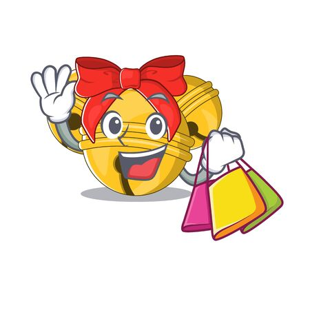 Shopping Jingle bell cartoon isolated with mascot
