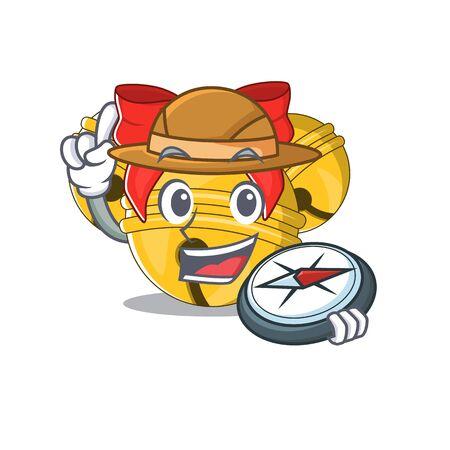 Explorer Jingle bell in the character shape Ilustração