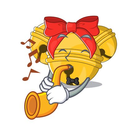 With trumpet Jingle bell in the character shape