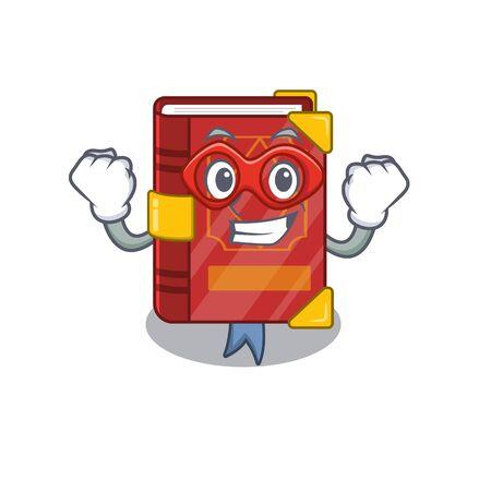 Super hero magic spell book on cartoon rack vector illustration 向量圖像