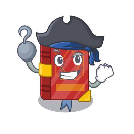 Pirate magic spell book in the cartoon vector illustration Иллюстрация