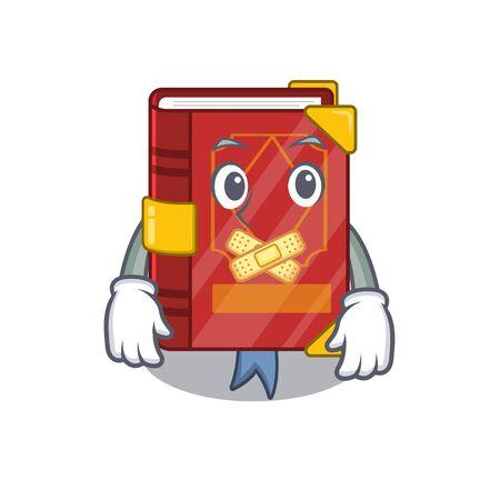 Silent magic spell book in shape mascot vector illustration