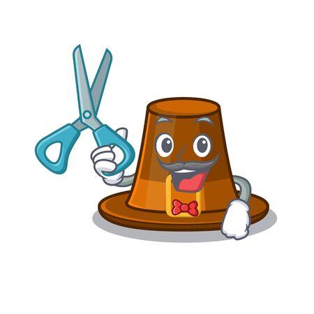 Barber pilgrims hat in the mascot cupboard vector illustration Illustration