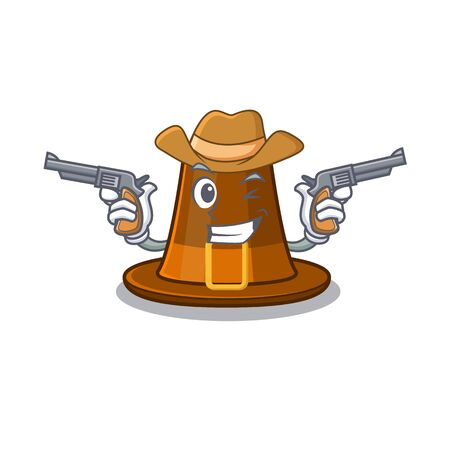 Cowboy pilgrims hat in the mascot cupboard vector illustration