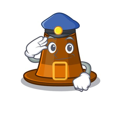 Police pilgrims hat in the mascot cupboard vector illustration