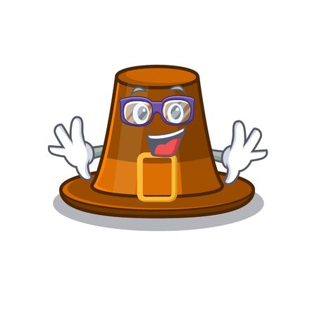 Geek pilgrims hat isolated with the cartoon vector illustration