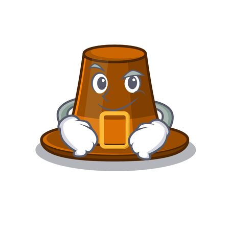 Smirking pilgrims hat isolated with the cartoon vector illustration