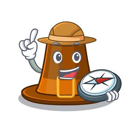 Explorer pilgrims hat in the character shape vector illustration Ilustração