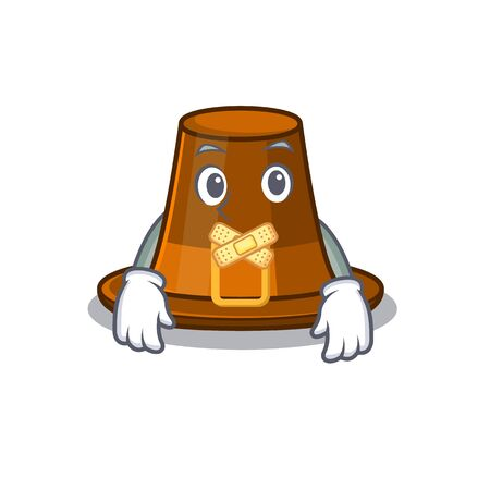 Silent pilgrim hat on a cartoon table vector illustration  イラスト・ベクター素材