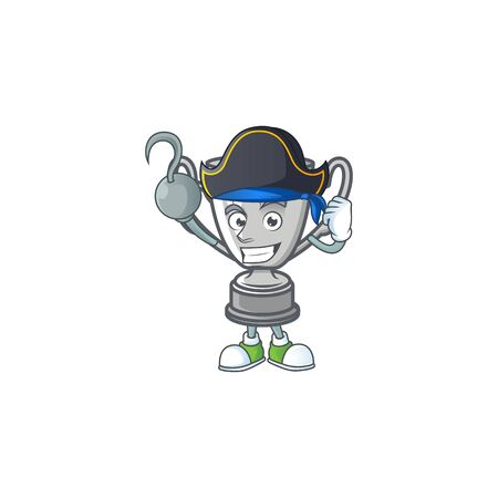 Pirate silver trophy for the second winner. Иллюстрация