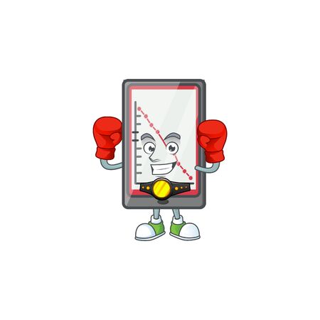 Boxing down chart vertical tablet character style. vector illustration Illusztráció
