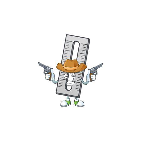 Cowboy a ruler for the measuring instruments. vector illustration Ilustração