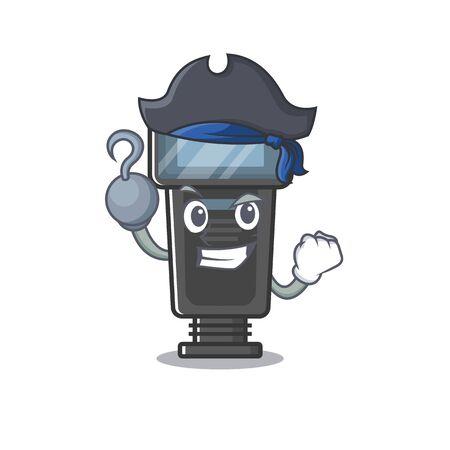 Pirate camera flash in the cartoon shape Illusztráció