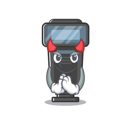 Devil camera flash in a cartoon bag Illusztráció
