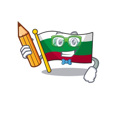 Student flag bulgarian isolated in the character