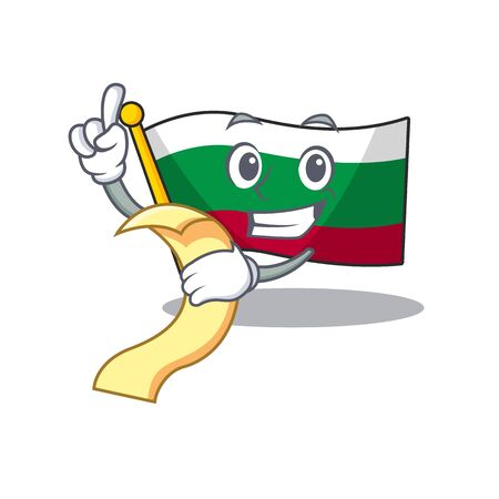 With menu flag bulgaria in the cartoon shape