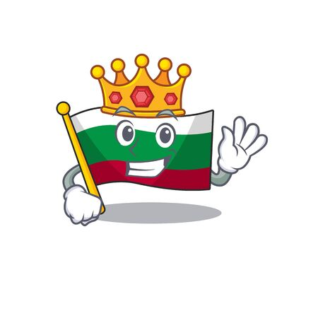 King flags bulgarian kept in mascot drawer