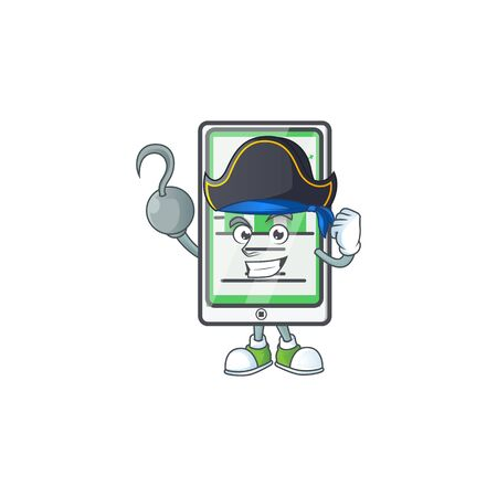 Pirate up chart vertical tablet for report. vector illustration