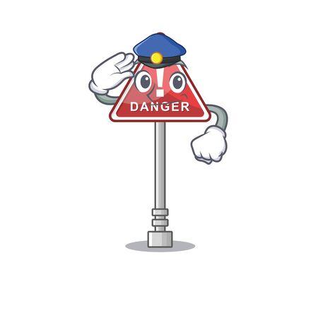 Police danger in cartoon