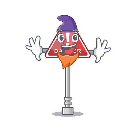 Elf danger with on the in cartoon vector illustration Stock Illustratie